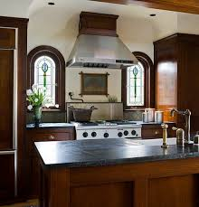 Red Mahogany Kitchen Cabinets Elegant Kitchens With Warm Wood Cabinets Traditional Home