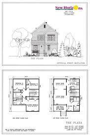 2 Story House Floor Plans House Design Plan Townhouse Elevation Plans Elevatio Hahnow