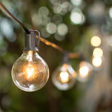 Clear Globe String Lights Outdoor by 2 In Bulbs 50 Ft Black Wire Outdoor Globe String Lights