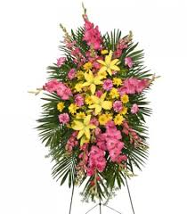 flowers for funeral enduring standing spray funeral flowers flower shop network