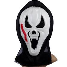 1 pc scary ghost face scream cosplay black mask halloween mask