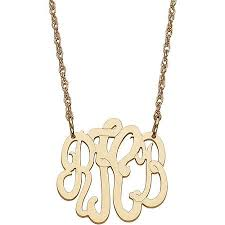 three initial monogram necklace cheap gold necklace with initial find gold necklace with initial