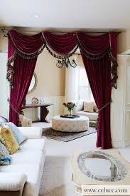 Valance Curtains For Living Room Designs Flip Pole Swag Valance Curtains Traditional Living Room