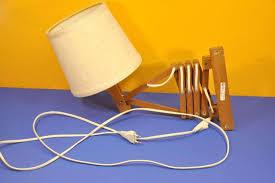 60s design temde wall scissor lamp teak wood 60s design at kusera for sale