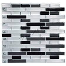 Backsplash Stick On Tiles by Amazon Com Tic Tac Tiles Premium Anti Mold Peel And Stick Wall