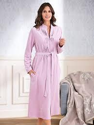 robe de chambre hahn la robe de chambre en velours ras col montant sorbet
