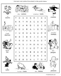 spanish search puzzles u2013 home education resources