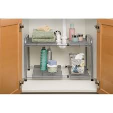 easy home expandable under sink shelf seville classics expandable under the sink shelf she14048b