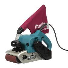 makita 11 amp 4 in x 24 in corded belt sander with abrasive belt