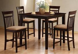 kmart furniture kitchen casual dining room decor with espresso stained counter height
