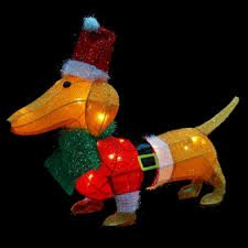 lighted dog christmas lawn ornament lighted christmas lawn decorations 20 lighted tinsel christmas