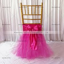 tutu chair covers 5pcs new desgin tutu tulle chiavari chair sash tutu chaiur skirt