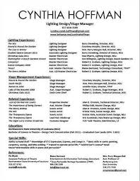Stage Manager Resume Template Performing Arts Resume Template Resume Sample