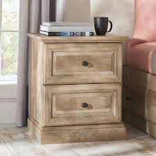 night stand rustic oak weathered wood finish night stand end table 2 drawers