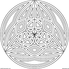 geometric circle coloring pages coloring page for kids kids coloring