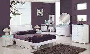 Bedroom Great Modern White Plum Bedroom Decoration Using Purple - White high gloss bedroom furniture set