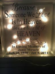 personalized in loving memory gifts personalized memorial glass light up block memorial gift
