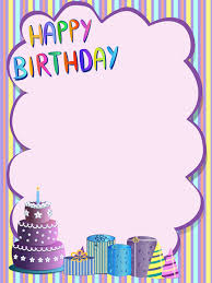 cute happy birthday greeting card vector 01 vector card free