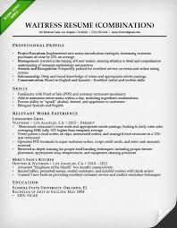 Summary Examples For Resume by Food Service Waitress U0026 Waiter Resume Samples U0026 Tips