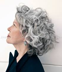 trendy gray hair styles shoulder length hairstyles over 50 curly hairstyle for grey hair