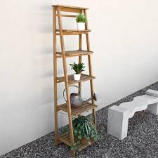 Teak Floor Tiles Outdoors by Oversized Ladder Style Teak Plant Stand Outdoor