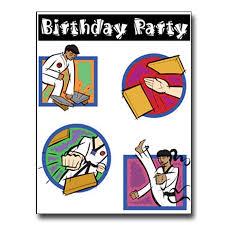 karate kids birthday invitation karate party invitations