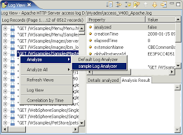 http access log analyzer extending eclipse monitoring profiling and testing functions