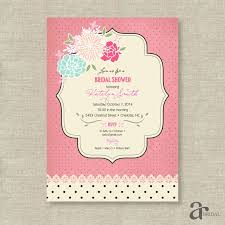 Shabby Chic Invites by Chic Vintage Rose And Polka Dot Bridal Shower Printable Invitation