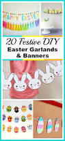 20 festive diy easter garlands and banners frugal decor ideas