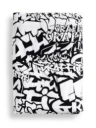 black graffiti duvet cover the third row