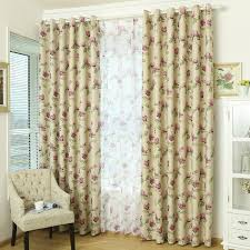 decorative purple floral shabby chic curtains