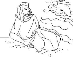jonah whale coloring pages kids jonah