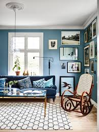 house tour a welcoming swedish home in bold blues coco kelley