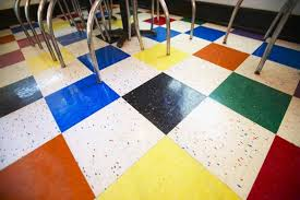 colorful peel and stick vinyl floor tile