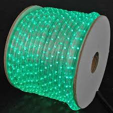 150 led green rope light spool 1 2 inch 120 volt