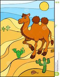 cartoon wild animals for kids cute camel stock vector image