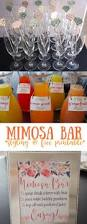mimosa bar styling u0026 free printables for sign and juice tags