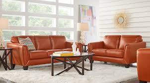 Orange Leather Sofa Orange U0026 Gray Living Room Furniture Ideas U0026 Decor
