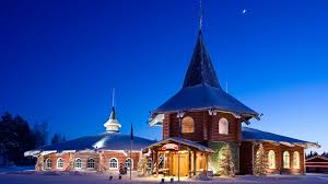 Christmas House by Santa Claus Village In Finnish Lapland Xmas In The North