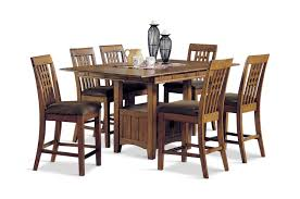 mission crest gathering table and 4 counterstools by thomas cole