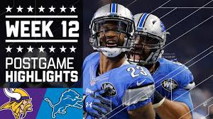 vikings vs lions nfl on thanksgiving week 12 highlights