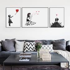 china wholesale home decor beautiful china home decor wholesale modern black white banksy poster print a urban graffiti wall art picture hipster home decor girl with china wholesale home decor