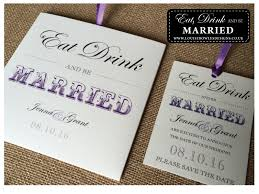 Eat Drink And Be Married Invitations Fun Quirky Ideas Bespoke Wedding Stationery Wedding