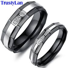 black wedding band sets trustylan one price new his and hers promise ring sets