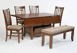 Wooden Dining Table Furniture Compact Dining Space Arrangement With Drop Leaf Dining Table For