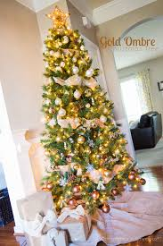 craftaholics anonymous gold ombre tree reveal
