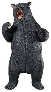 growling black bear statue rustic garden statues and yard art
