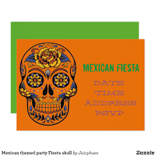 Invitations And Cards Mexican Themed Party Fiesta Skull Card Unique Divorce Fiestas