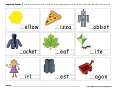 beginning sounds worksheets for preschool and kindergarten kids