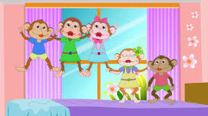 Bed Song Five Little Monkeys Jumping On The Bed With Lyrics Kids Songs